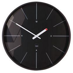 "sigel mur horloge design arte tempus ""ondo"", horloge radio pilotée, noir"