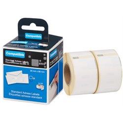 Rouleau d'étiquettes - permanent, étiquettes d'adresse, 89 x 28 mm, blanc pour Dymo® LabelWriter™